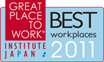 GREAT PLACE TO WORK BEST INSTITUTE JAPAN work places 2011